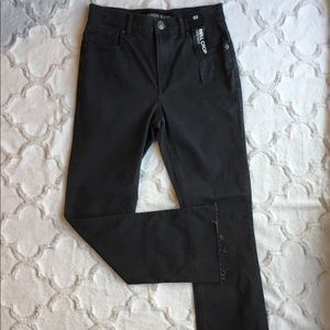Express Jeans High Rise Bell Crop Gray Jeans New